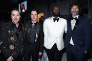 (L-R) Host David Furnish, singer Rufus Wainwright, art director Jorn Weisbrodt, and dancer Stephen Galloway attend the 25th Annual Elton John AIDS Foundation's Academy Awards Viewing Party at The City of West Hollywood Park on February 26, 2017 in West Hollywood, California.