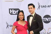 Shelby Rabara (L) and Harry Shum Jr. attend the 25th Annual Screen Actors Guild Awards at The Shrine Auditorium on January 27, 2019 in Los Angeles, California.