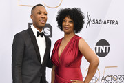 Corey Hawkins (L) and Monicamarie Hawkins arrive at the 25th Annual Screen ActorsGuild Awards at The Shrine Auditorium on January 27, 2019 in Los Angeles, California.