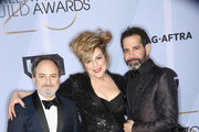 (L-R) Kevin Pollak, Caroline Aaron, and Tony Shalhoub attend the 25th Annual Screen ActorsGuild Awards at The Shrine Auditorium on January 27, 2019 in Los Angeles, California. 480695