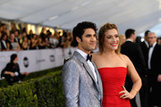 Darren Criss and Mia Swier attend the 25th Annual Screen ActorsGuild Awards at The Shrine Auditorium on January 27, 2019 in Los Angeles, California. 480543