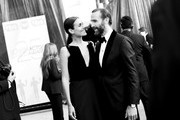 This image has been converted to black and white. A color version is available.) Joseph Fiennes (R) and Maria Dolores Dieguez attend the 25th Annual Screen Actors Guild Awards at The Shrine Auditorium on January 27, 2019 in Los Angeles, California. 480518