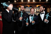 (L-R) Brian Tarantina, Tony Shalhoub, Kevin Pollak and Michael Zegen attend the 25th Annual Screen ActorsGuild Awards at The Shrine Auditorium on January 27, 2019 in Los Angeles, California. 480720