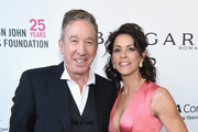 Tim Allen (L) and Jane Hajduk attend the 26th annual Elton John AIDS Foundation Academy Awards Viewing Party sponsored by Bulgari, celebrating EJAF and the 90th Academy Awards at The City of West Hollywood Park on March 4, 2018 in West Hollywood, California.
