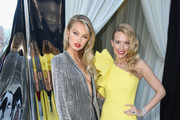 Romee Strijd (L) and Petra Nemcova attend the 26th annual Elton John AIDS Foundation Academy Awards Viewing Party with cocktails by Clase Azul Tequila at The City of West Hollywood Park on March 4, 2018 in West Hollywood, California.