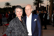 Artistic director Helen du Toit (L) and actor Sir Patrick Stewart attend the 26th Annual Palm Springs International Film Festival Film Festival Awards Gala at Parker Palm Springs on January 3, 2015 in Palm Springs, California.