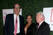 """FFANY President John Heron, La La Anthony, and FFCF Chairman Ron Fromm attend the 26th Annual QVC Presents """"FFANY Shoes On Sale"""" Gala on October 10, 2019 in New York City."""
