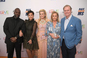 (L-R) Corey Gamble, Kris Jenner, Race to Erase MS founder Nancy Davis, Kathy Hilton, and Rick Hilton attend the 26th annual Race to Erase MS on May 10, 2019 in Beverly Hills, California.