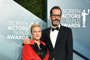 Patricia Arquette and Eric White attend the 26th Annual Screen ActorsGuild Awards at The Shrine Auditorium on January 19, 2020 in Los Angeles, California. 721430