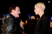(L-R) Quentin Tarantino and Charlize Theron attend the 26th Annual Screen ActorsGuild Awards at The Shrine Auditorium on January 19, 2020 in Los Angeles, California.