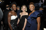 Lupita Nyong'o, Lauren Morelli and Samira Wiley attend the 26th Annual Screen ActorsGuild Awards at The Shrine Auditorium on January 19, 2020 in Los Angeles, California. 721453