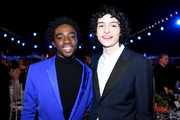 (L-R) Caleb McLaughlin and Finn Wolfhard attend the 26th Annual Screen ActorsGuild Awards at The Shrine Auditorium on January 19, 2020 in Los Angeles, California.