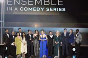 The cast of The Marvelous Mrs. Maisel accept the Ensemble in a Comedy Series Award onstage during the 26th Annual Screen Actors Guild Awards at The Shrine Auditorium on January 19, 2020 in Los Angeles, California. 721359