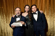 (L-R)  Kevin Pollak, Marin Hinkle, and Michael Zegen pose with award for Best Ensemble in a Comedy Series- The Marvelous Mrs. Maisel during the 26th Annual Screen ActorsGuild Awards at The Shrine Auditorium on January 19, 2020 in Los Angeles, California. 721313