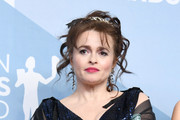 Helena Bonham Carter, winner of Outstanding Performance by an Ensemble in a Drama Series for 'The Crown', poses in the press room during the 26th Annual Screen Actors Guild Awards at The Shrine Auditorium on January 19, 2020 in Los Angeles, California.