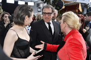 (L-R) Joey King, David O. Russell and Patricia Arquette attend the 26th Annual Screen Actors Guild Awards at The Shrine Auditorium on January 19, 2020 in Los Angeles, California.