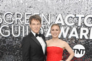(L-R) Stephen Moyer and Anna Paquin attend the 26th Annual Screen Actors Guild Awards at The Shrine Auditorium on January 19, 2020 in Los Angeles, California.