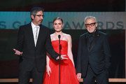 Ray Romano, Anna Paquin, and Harvey Keitel speak onstage during the 26th Annual Screen Actors Guild Awards at The Shrine Auditorium on January 19, 2020 in Los Angeles, California.