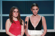 (L-R) Kaitlyn Dever and Lili Reinhart speak onstage during the 26th Annual Screen Actors Guild Awards at The Shrine Auditorium on January 19, 2020 in Los Angeles, California.