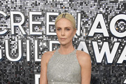 This image is a retransmission) Charlize Theron attends the 26th Annual Screen ActorsGuild Awards at The Shrine Auditorium on January 19, 2020 in Los Angeles, California.