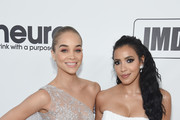 Jasmine Sanders and Julissa Bermudez attend the 27th annual Elton John AIDS Foundation Academy Awards Viewing Party sponsored by IMDb and Neuro Drinks celebrating EJAF and the 91st Academy Awards on February 24, 2019 in West Hollywood, California.