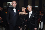 (L-R) John Demsey,  Alexa Demie and Drew Elliott attend the 28th Annual Elton John AIDS Foundation Academy Awards Viewing Party sponsored by IMDb, Neuro Drinks and Walmart on February 09, 2020 in West Hollywood, California.