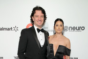 (L-R) JC Chasez and Jennifer HuYoung attend the 28th Annual Elton John AIDS Foundation Academy Awards Viewing Party sponsored by IMDb, Neuro Drinks and Walmart on February 09, 2020 in West Hollywood, California.
