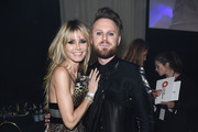 Heidi Klum and Bobby Berk attend the 28th Annual Elton John AIDS Foundation Academy Awards Viewing Party sponsored by IMDb, Neuro Drinks and Walmart on February 09, 2020 in West Hollywood, California.