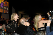 Sharon Stone and Heidi Klum attend the 28th Annual Elton John AIDS Foundation Academy Awards Viewing Party sponsored by IMDb, Neuro Drinks and Walmart on February 09, 2020 in West Hollywood, California.