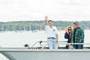 New York State Governor Mario Cuomo, Alexis Roderick and Billy Joel   attend Friends Of The Bay Cleanup at Theodore Roosevelt Park on September 21, 2013 in Oyster Bay, New York.