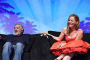 """Actor Robert De Niro and actress Leslie Mann speak at the Closing Night Screening of """"The Comedian"""" at the 28th Annual Palm Springs International Film Festival on January 15, 2017 in Palm Springs, California."""