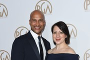 Actor Keegan-Michael Key (L) and partner arrive on the red carpet for the 2017 Producers Guild Awards at the Beverly Hilton in Beverly Hills, California on January 28, 2017. / AFP / Chris Delmas