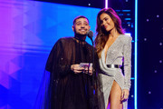 (L-R) Michael Costello and Sarah Stage speak onstage during the 2nd Annual American Influencer Awards at Dolby Theatre on November 18, 2019 in Hollywood, California.