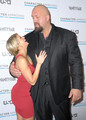 Professional wrestlers Kelly Kelly and The Big Show attend the 2nd Annual Character Approved Awards cocktail reception at The IAC Building on February 25, 2010 in New York City.
