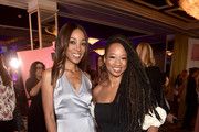 Shaun Robinson (L) and Monique Coleman attend the 2nd Annual Girl Up #GirlHero Awards at the Beverly Wilshire Four Seasons Hotel on October 13, 2019 in Beverly Hills, California.