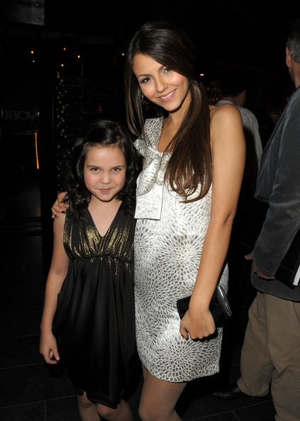 Actresses Bailee Madison (L) and Victoria Justice attend the 2nd annual Golden Globes party saluting young Hollywood held at Nobu Los Angeles on December 8, 2009 in West Hollywood, California.