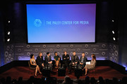 """(L-R) Zabryna Guevara, Sean Pertwee, Robin Lord Taylor, Jada Pinkett Smith, Donal Logue, Ben McKenzie, Danny Cannon and Kristen Baldwin attend the 2nd annual Paleyfest New York Presents: """"Gotham"""" at Paley Center For Media on October 18, 2014 in New York, New York."""