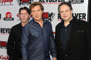 TV personalities Eddie Trunk, Jim Florentine, and Don Jamieson arrive at the 2nd annual Revolver Golden Gods Awards held at Club Nokia on April 8, 2010 in Los Angeles, California.