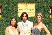 (L-R) Host/President of Veuve Clicquot USA Vanessa Kay, Polo Player/host Nacho Figueras, and host Delfina Blaquier attend the Second Annual Veuve Clicquot Polo Classic at Will Rogers State Historic Park on October 9, 2011 in Pacific Palisades, California.