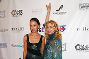 (L-R) Pat Cleveland and Debbie Dickinson attend the 2nd Annual Women & Fashion FilmFest Red Carpet Opening at Gold Bar on June 3, 2014 in New York City.