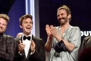 (L-R) Antoni Porowski and Jonathan Van Ness accept the Outstanding Reality Program for 'Queer Eye' onstage during the 30th Annual GLAAD Media Awards Los Angeles at The Beverly Hilton Hotel on March 28, 2019 in Beverly Hills, California.