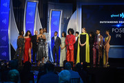 Janet Mock speaks onstage with the cast of Pose during the 30th Annual GLAAD Media Awards New York at New York Hilton Midtown on May 04, 2019 in New York City.