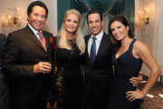 (L-R) Wayne Newton, Kathleen McCrone, Helio Castroneves and Adriana Henao attend the 30th Annual Great Sports Legends Dinner to benefit The Buoniconti Fund to Cure Paralysis at The Waldorf Astoria on October 6, 2015 in New York City.