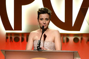 Linda Cardellini speaks onstage during the 30th annual Producers Guild Awards at The Beverly Hilton Hotel on January 19, 2019 in Beverly Hills, California.