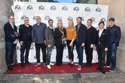 Jim Burke, Alfonso Cuaron, Graham King, Raymond Mansfield, Ceci Dempsey,  Lynette Howell Taylor, Andrew Form, Kevin Messick, John Penotti and Kevin Feige attend the 2019 PGA Nominees Breakfast on January 19, 2019 in Beverly Hills, California.