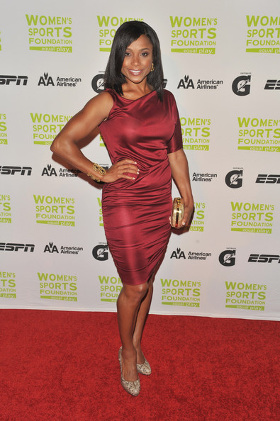 Gymnast Dominique Dawes attends the 30th Annual Salute To Women In Sports Awards at The Waldorf=Astoria on October 13, 2009 in New York City.