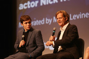 Actors Nick Robinson and William H Macy speak onstage at the 'Krystal' screening and Q&A at Paramount Theater during the 30th Annual Virginia Film Festival at the University of Virginia on November 10, 2017 in Charlottesville, Virginia.