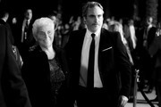 Image has been converted to black and white.) Arlyn Phoenix and Joaquin Phoenix attend the 31st Annual Palm Springs International Film Festival Film Awards Gala at Palm Springs Convention Center on January 02, 2020 in Palm Springs, California.
