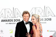 Richard Wilkins and new Virginia Burmeister arrive for the 32nd Annual ARIA Awards 2018 at The Star on November 28, 2018 in Sydney, Australia.