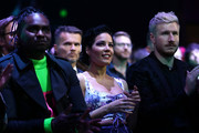 Baker Boy and Halsey (C) attend the 33rd Annual ARIA Awards 2019 at The Star on November 27, 2019 in Sydney, Australia.
